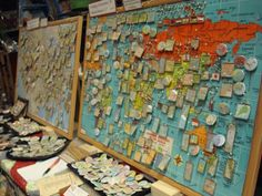 Custom Pins, Pendants, Magnets and More: LOVE the map board display!