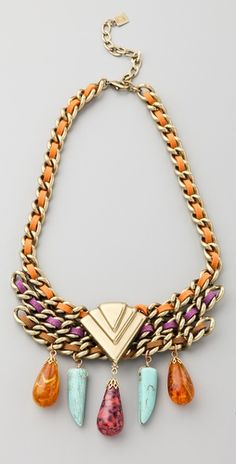 Love the colors in this statement piece!