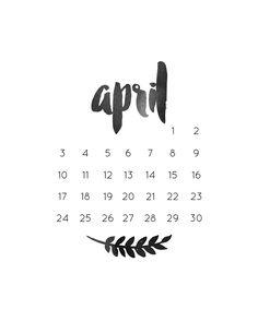 Monthly Freebie | April Calendar | Trend Addictions Blog