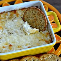 """Cheesy Vidalia Onion Dip   """"A quick and tasty dip that is delicious on Triscuits or with baked bread. Simple, easy, and delicious. Perfect for the last-minute party. Serve piping hot."""""""