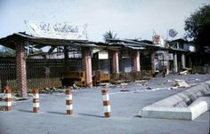 Changi village after fire 1970