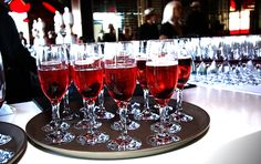 Guests were greeted with Champagne with Red Hibiscus! Houston, Bar Grill, Hibiscus, Grilling, Alcoholic Drinks, Champagne, Red, Decor, Top Restaurants