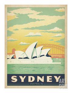 Sydney, Australia Print by Anderson Design Group at Art.com