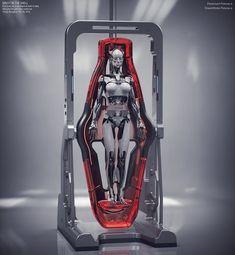 """Concept Design work for """"Ghost In The Shell"""" film, Vitaly Bulgarov Female Cyborg, Drones, Arte Robot, 2017 Design, Futuristic Art, Futuristic Architecture, Ex Machina, Ghost In The Shell, Environment Design"""