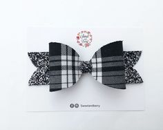 Now availabe on our store Tartan oversized bow - Black and White Check it out here!  [product-url