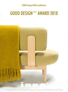 Linko, design Mikko Laakkonen, has been granted the internationally recognized GOOD DESIGN™ 2018 Award - The world's most prestigious, recognized, and oldest Design Awards program organized annually by The Chicago Athenaeum: Museum of Architecture and Design in cooperation with the European Centre for Architecture, Art, Design and Urban Studies.