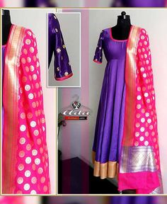 Anarkali With Heavy Banarasi Dupatta