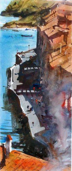 Alvaro Castagnet | Cadaques, Spain #watercolor jd