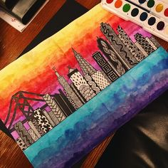 New project for middle school... Choice Zentangles! #sanfrancisco #artteacher #middleschoolart #zentangle #zenart #relax #contrast #artteachersofinstagram #iteachart #crayolawatercolors #sharpie #prangwatercolors