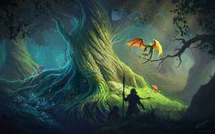 Old Tree Wallpaper by Deligaris.deviantart.com on @deviantART