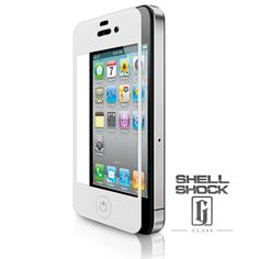 White iPhone Screen Protector - Shell Shock: G-Class™ Screen Protector for Apple iPhone 4 - www.cellairis.com