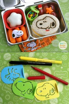 Use Stencils and Food Markers for great designs! -- from www.bentonbetterlunches.com