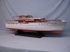 "rc model boats | Sterling ""63 foot Chris-Craft"" wood model RC boat kit B11M (NOT BUILT ..."