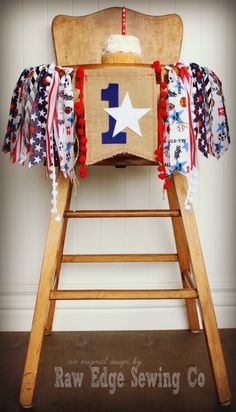 ALL STAR SPORTS Birthday Age High Chair by RawEdgeSewingCo on Etsy