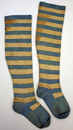 Stockings    Date:    ca. 1850  Culture:    American    Credit Line:     Gift of Mr. Louis G. Smith, 1940  Accession Number:     C.I.40.58.2a, b  MET