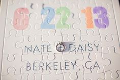 unique wedding idea alert >> puzzle save the dates! photo by This Love Of Yours Photography