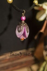 Polymer clay pendant. Different and pretty ,