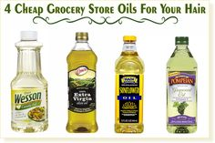 4 Super Cheap Grocery Store Oils That Work Great For Your Hair あなたの髪のために素晴らしい超激安食料品店のオイル4点