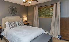 Benjamin Moore Chelsea Gray in a north facing room. Photo by Artez Photography. Paint color for Home Staging. Kylie M Interiors E-design and Colour consulting services