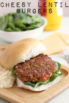 Cheesy lentil burgers | Amuse Your Bouche