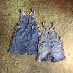 Kid's denim osh kosh b'gosh. Dress, size 5T / overalls, size 18 months. Available in store or online. Link in profile to shop. 🎈 . . #heytiger #shopheytiger #kidsdenim #oshkosh #overalls #shortalls #pinafore #jumper #onesie #romper #vintagekids #retrokids #hipkids #kidsfashion #kidsstyle #kids #kidswear #toddler #toddlerfashion #toddlerswag #vintageshop #etsy #etsyseller #etsyshop #heykids #flatlay #onlineshop