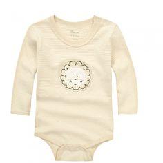 Organic Cotton Baby Bodysuit,Lion Long Sleeve Onesies,3-24 Months