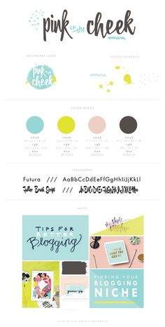 lifestyle blog logo + branding + moodboard. /// bright + colorful with watercolor design elements