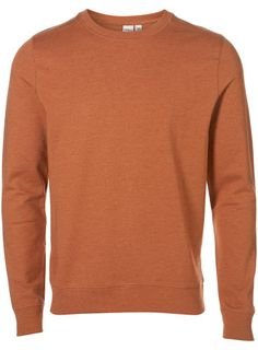 Rust Flatlock Plain Sweatshirt