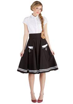 nautical style, anchors aweigh, fashion, cloth, circle skirts, black white, closet, vintage inspired, retro vintage
