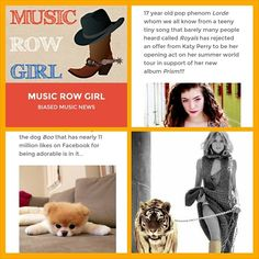 Fun article today about @Laura Lord Ellis rejecting @Kate F. Perry and a special appearance by @boothedoggy #music #musicnews #nashville #blog #blogger #lorde #katyperry #summer #summertour #pureheroine #prism #lordeandkatyperry http://musicrowgirl.com/2014/03/17/lorde-turned-down-katy-perrys-tour-invitation/