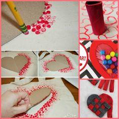 Manualidades fuente: Internet para realizar con niños para San Valentin.
