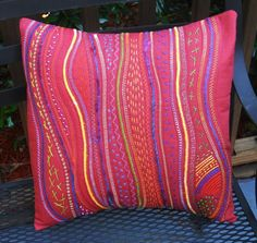 - Picnic Spice Red Pillow