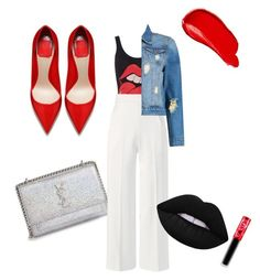 A fashion look from February 2017 featuring blue denim jacket, high rise pants and shoulder handbags. Browse and shop related looks. Roland Mouret, Lime Crime, Boohoo, Polyvore Fashion, Yves Saint Laurent, Burberry, Clothing, Stuff To Buy, Shopping