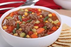 Slow Cooker Hamburger Stew - Budget friendly, and TASTY! www.GetCrocked.com
