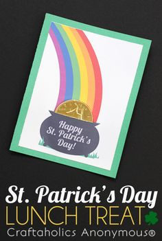 St. Patrick's Day Lunch Treat Printable