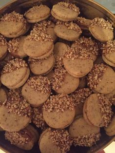 Cookies Recipes Nougattaler, a refined recipe from the category biscuits & cookies. Delicious Cookie Recipes, Yummy Cookies, Cake Cookies, Sweet Recipes, Baking Recipes, Vegan Christmas, Biscuit Cookies, Creative Food, Love Food