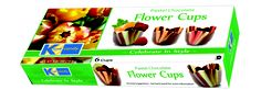 Kane Candy Chocolate Flower Cups  Garden Party edible chocolate cups. Just fill & serve! YUM!!! Made In USA  KaneCandy.com