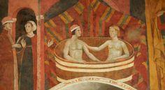 Scene profane. 1305. Torre del Palazzo Pubblico  di San Gimignano.