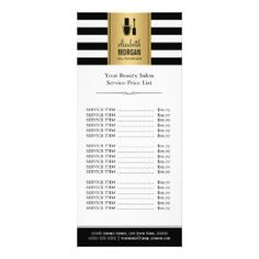 Nails Modern Gold Typography Marble Price List Rack Card  Marble