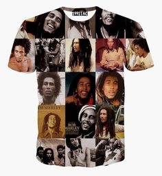 *Bob Marley* Crazy T-Shirt. More fantastic pictures and videos of *Bob Marley* on: https://de.pinterest.com/ReggaeHeart/