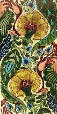 Tiles designed by English potter & tile designer William De Morgan (1839-1917). via Kotomi_ on flickr