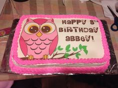 Owl Girl on branch Image edible cake topper