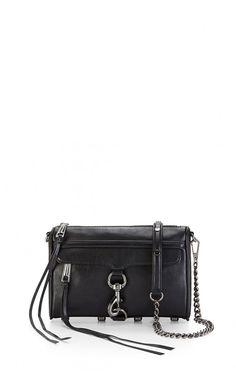 Rebecca Minkoff Mini M.A.C. Crossbody Bag Gunmetal Hardware #classical #fashion