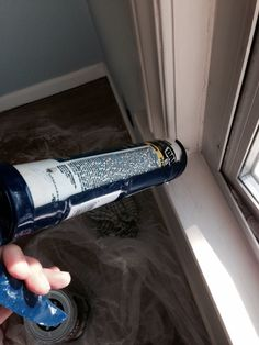 I caulked the big problems but noticed a few cracks while painting. My first attempt to use a caulking gun. Stand back.