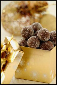 Truffes au chocolat et au piment d'Espelette.
