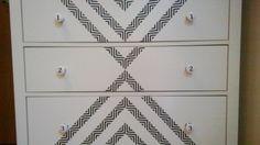 DIY- Ikea drawer washi taped.