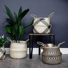 Buy the Seagrass Tribal Basket - White Lined. These retro-chic woven plant baskets have integral waterproof liners, perfect for adding a natural look and feel to your plant pot collection. My New Room, My Room, Interior Inspiration, Room Inspiration, Tribal Decor, Plant Basket, Indoor Plant Pots, Flat Ideas, My Living Room