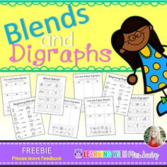 This freebie contains work for blends and digraphs, including beginning sound, word identification and cut and paste sorts. Enjoy and please leave feedback if you like this product- it inspires me to make more freebies! ** TEACHERS: YOU MAY NOT POST THIS PRODUCT ANYWHERE.