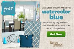 Designer Color Palette: Watercolor Blue