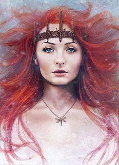 Sansa Stark ~ Queen of the North ~ Winter is Coming! #GameOfThrones #ASOIAF #WinterIsComing